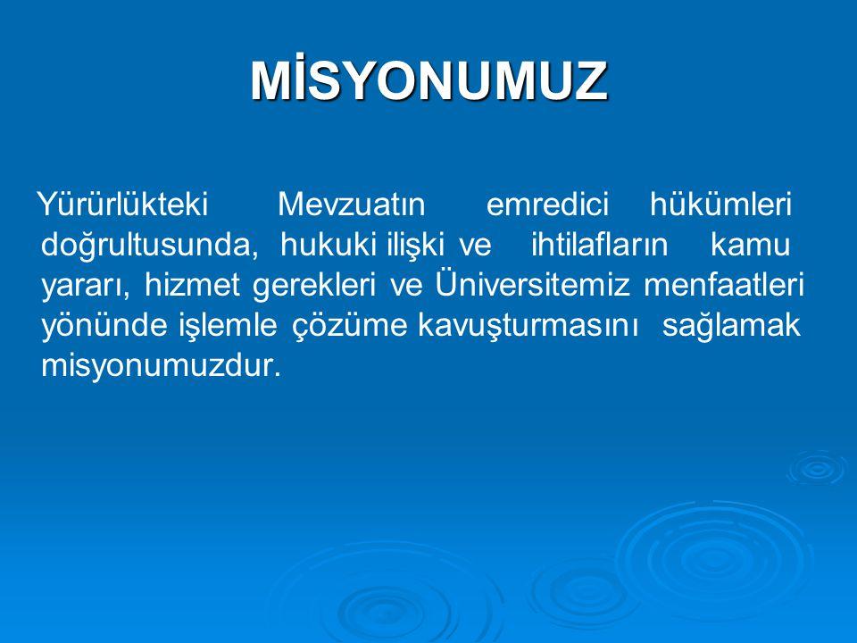 MİSYONUMUZ
