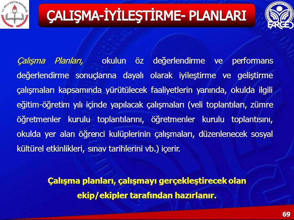 ÇALIŞMA-İYİLEŞTİRME- PLANLARI