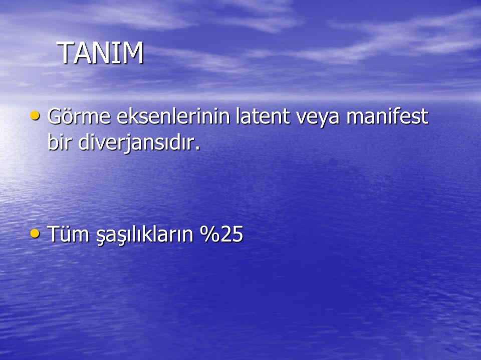 TANIM Görme eksenlerinin latent veya manifest bir diverjansıdır.