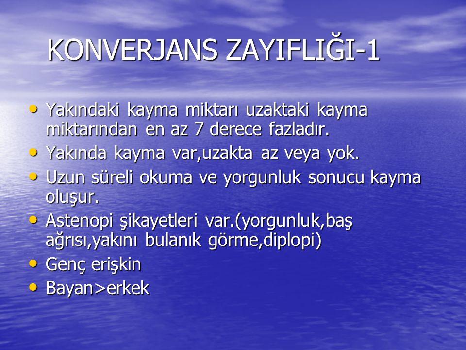 KONVERJANS ZAYIFLIĞI-1