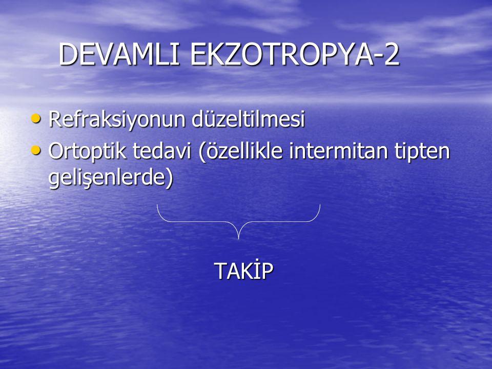 DEVAMLI EKZOTROPYA-2 Refraksiyonun düzeltilmesi