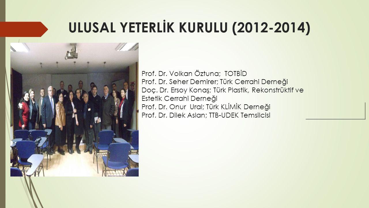 ULUSAL YETERLİK KURULU (2012-2014)