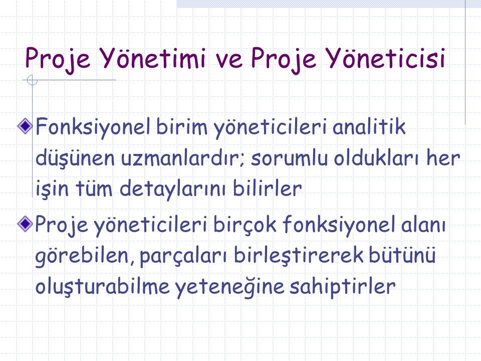 Proje Yönetimi ve Proje Yöneticisi