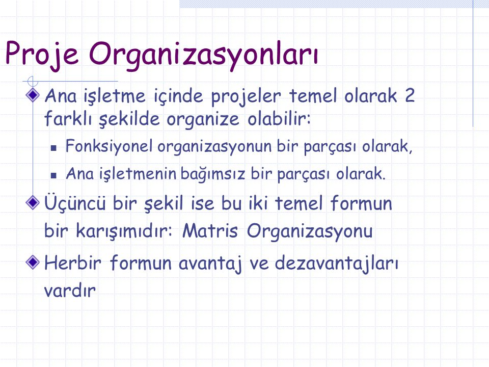 Proje Organizasyonları