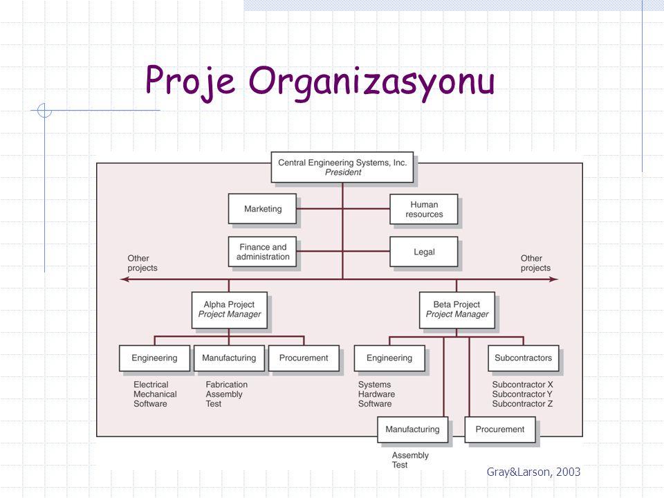 Proje Organizasyonu Gray&Larson, 2003
