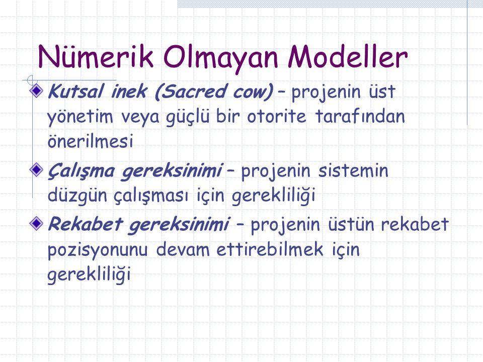 Nümerik Olmayan Modeller