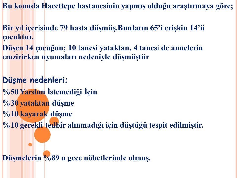Bu konuda Hacettepe hastanesinin yapmış olduğu araştırmaya göre;