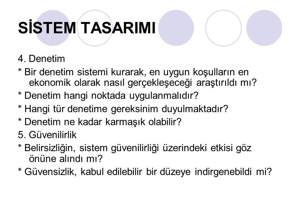 SİSTEM TASARIMI 4. Denetim