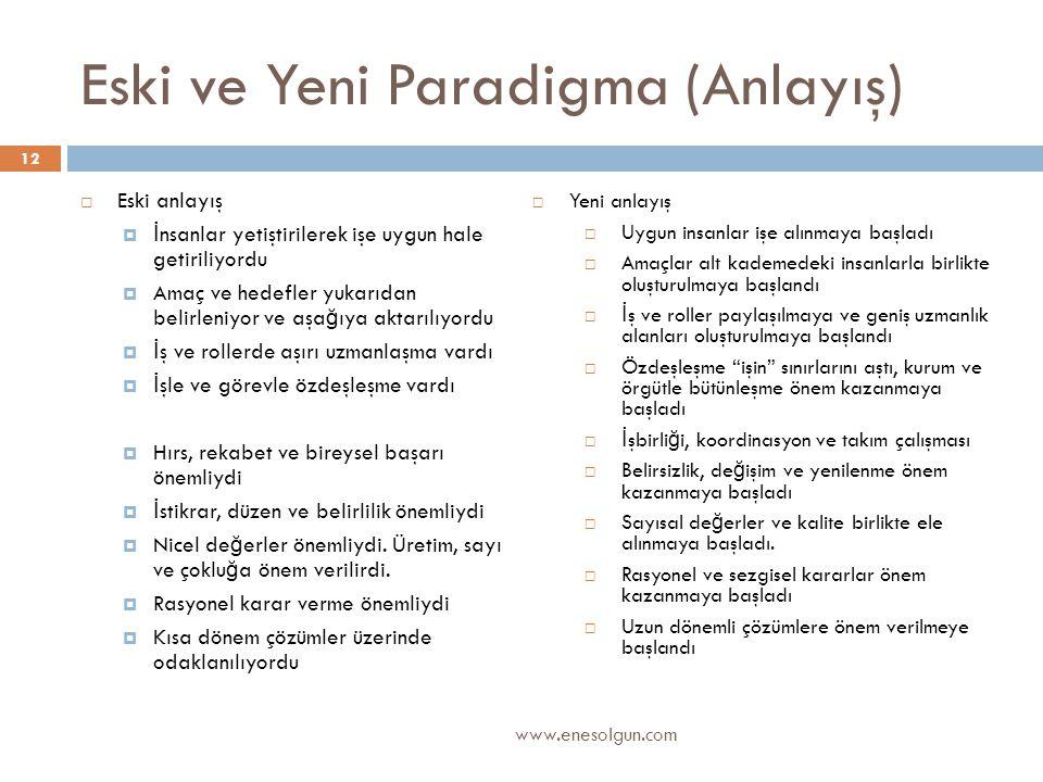 Eski ve Yeni Paradigma (Anlayış)