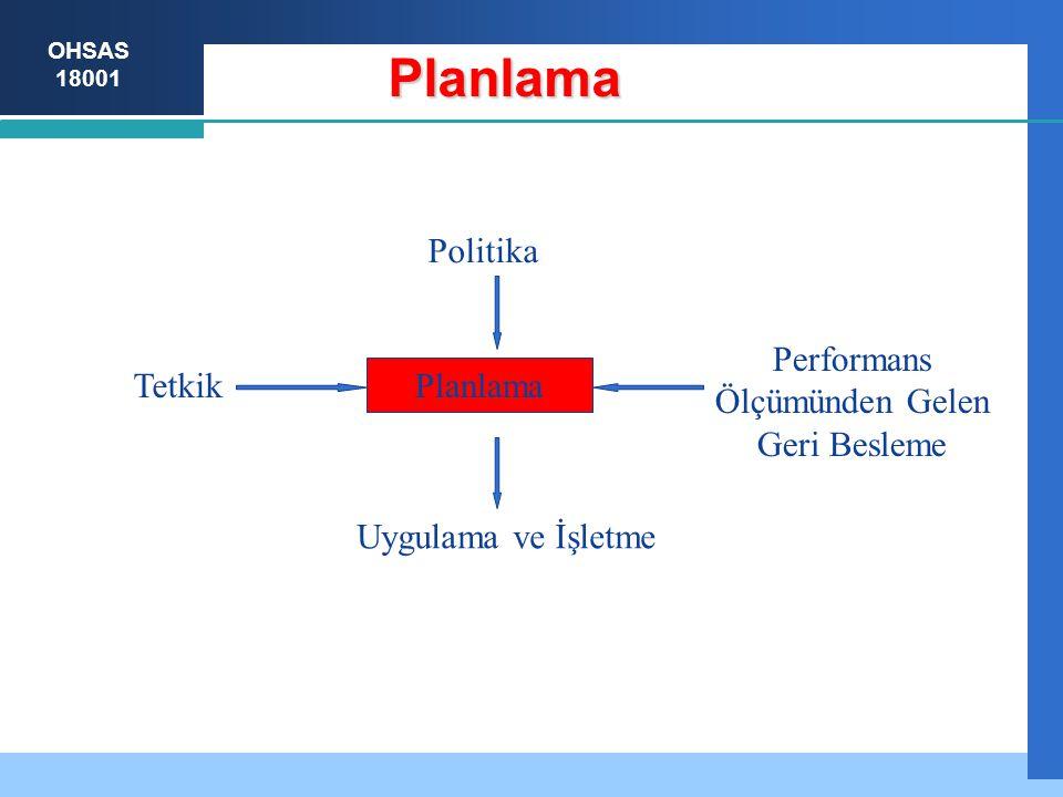 Planlama Planlama Uygulama ve İşletme Tetkik Politika Performans