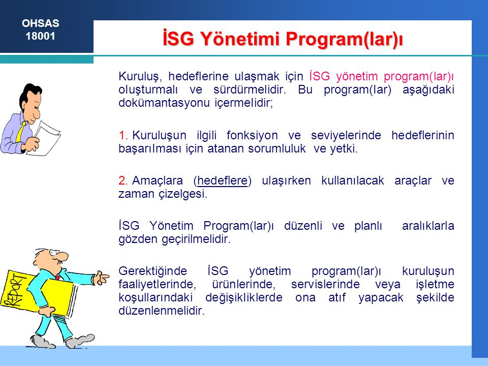 İSG Yönetimi Program(lar)ı