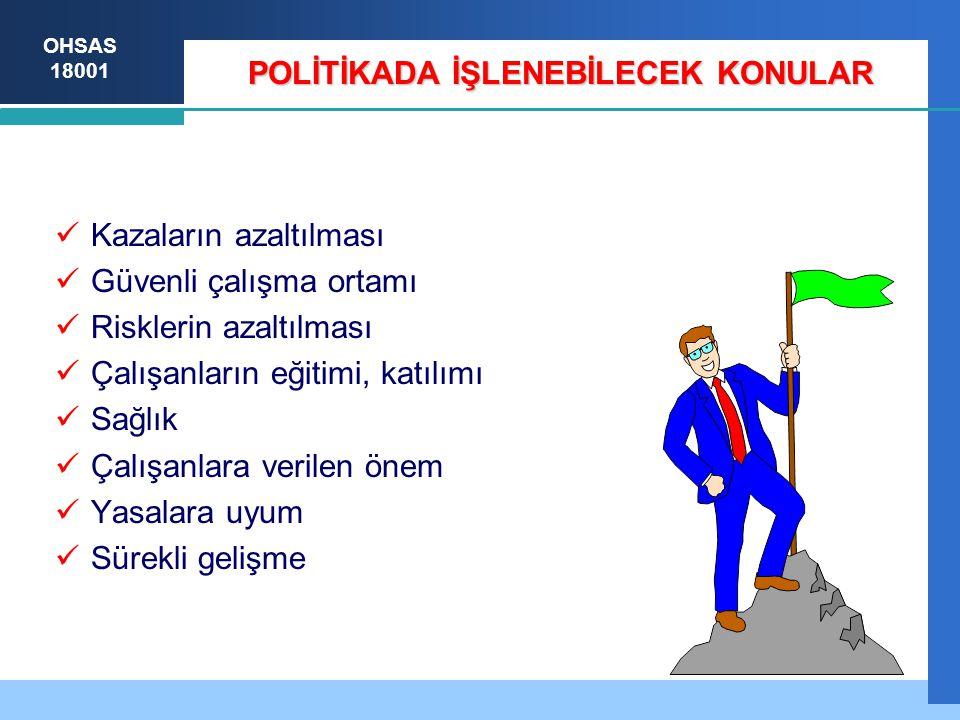POLİTİKADA İŞLENEBİLECEK KONULAR