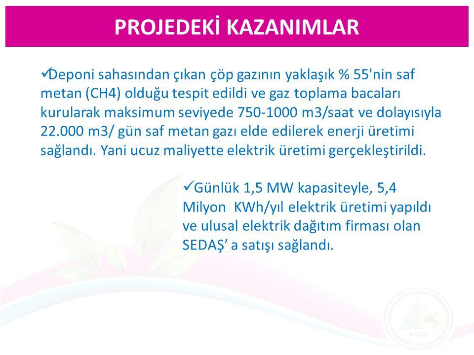 PROJEDEKİ KAZANIMLAR