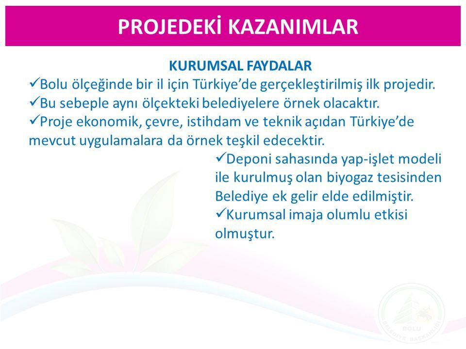 PROJEDEKİ KAZANIMLAR KURUMSAL FAYDALAR