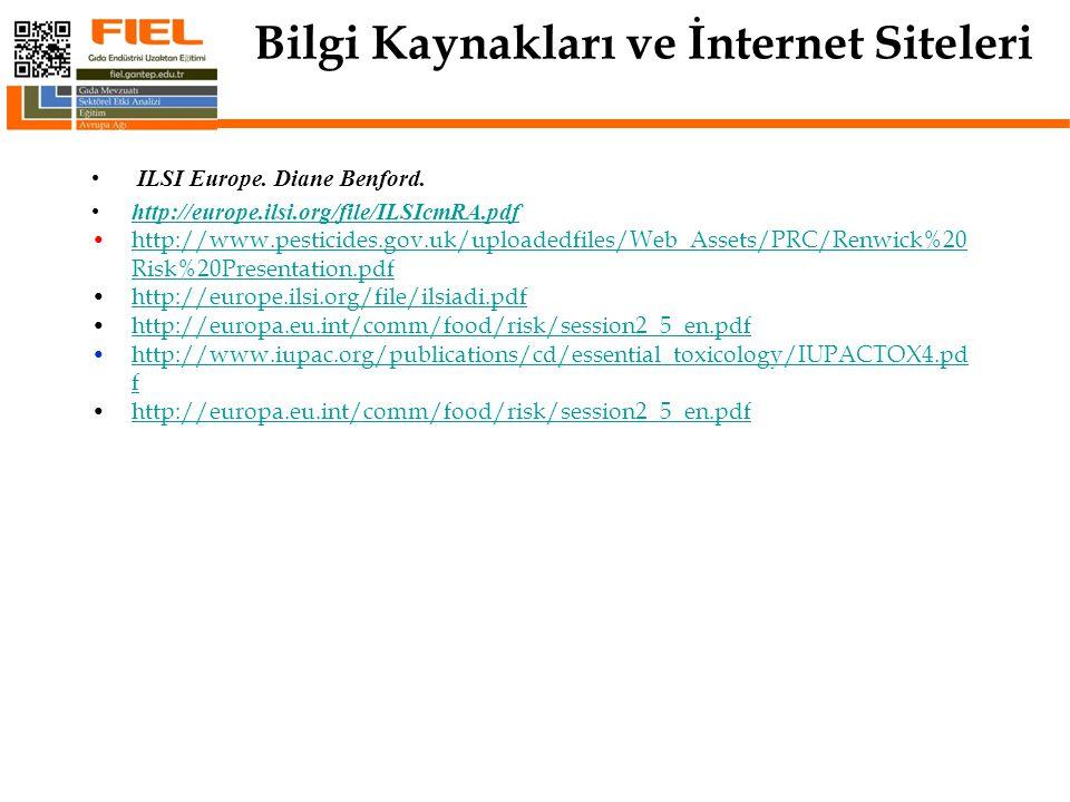 Bilgi Kaynakları ve İnternet Siteleri