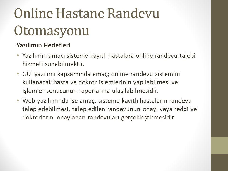 Online Hastane Randevu Otomasyonu