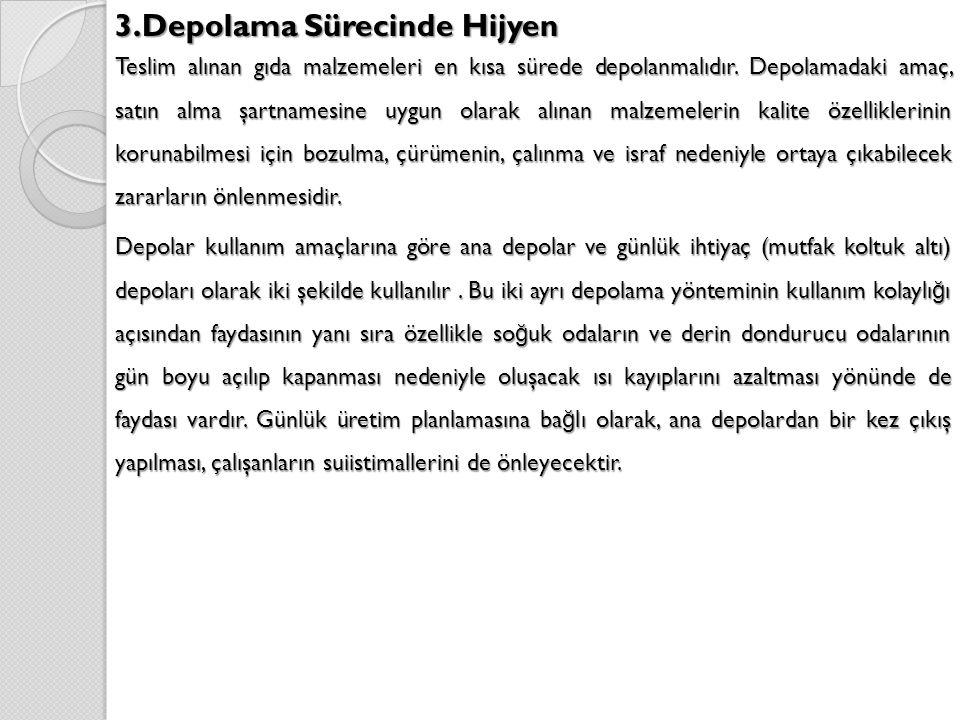 3.Depolama Sürecinde Hijyen