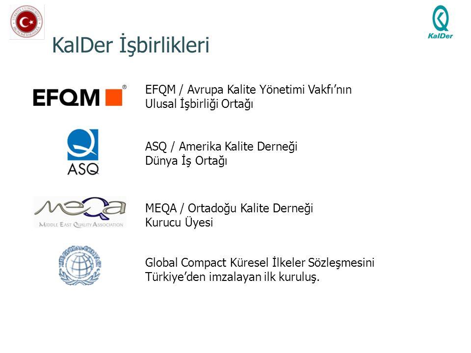 KalDer İşbirlikleri EFQM / Avrupa Kalite Yönetimi Vakfı'nın