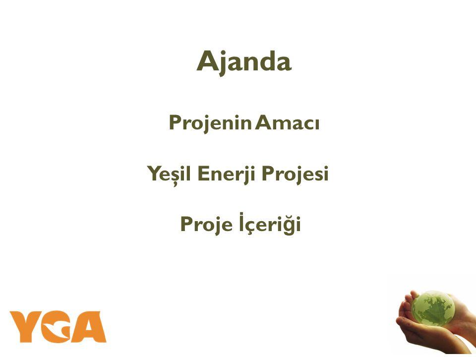 Ajanda Projenin Amacı Yeşil Enerji Projesi Proje İçeriği