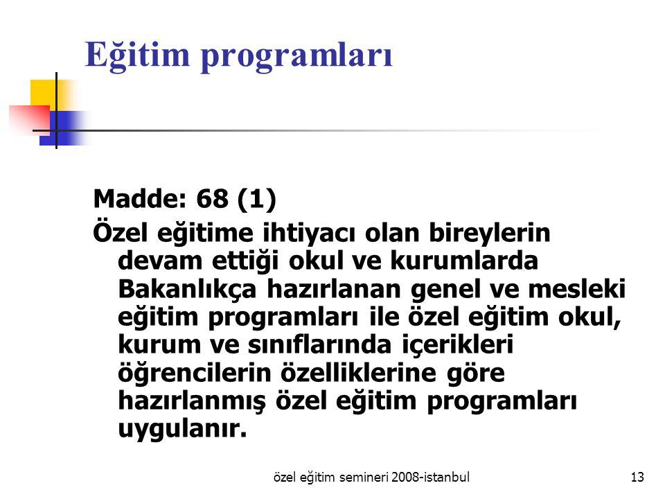 özel eğitim semineri 2008-istanbul
