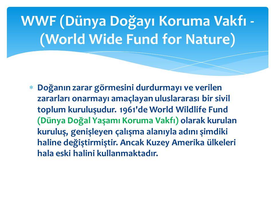 WWF (Dünya Doğayı Koruma Vakfı - (World Wide Fund for Nature)