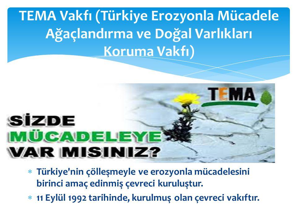 TEMA Vakfı (Türkiye Erozyonla Mücadele Ağaçlandırma ve Doğal Varlıkları Koruma Vakfı)