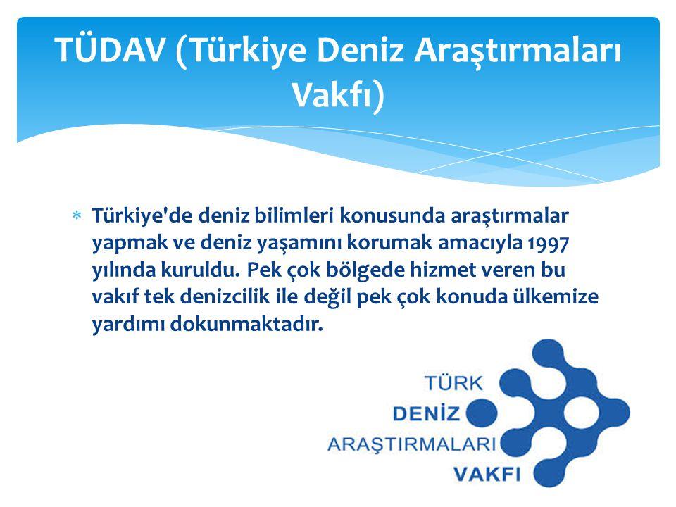 TÜDAV (Türkiye Deniz Araştırmaları Vakfı)