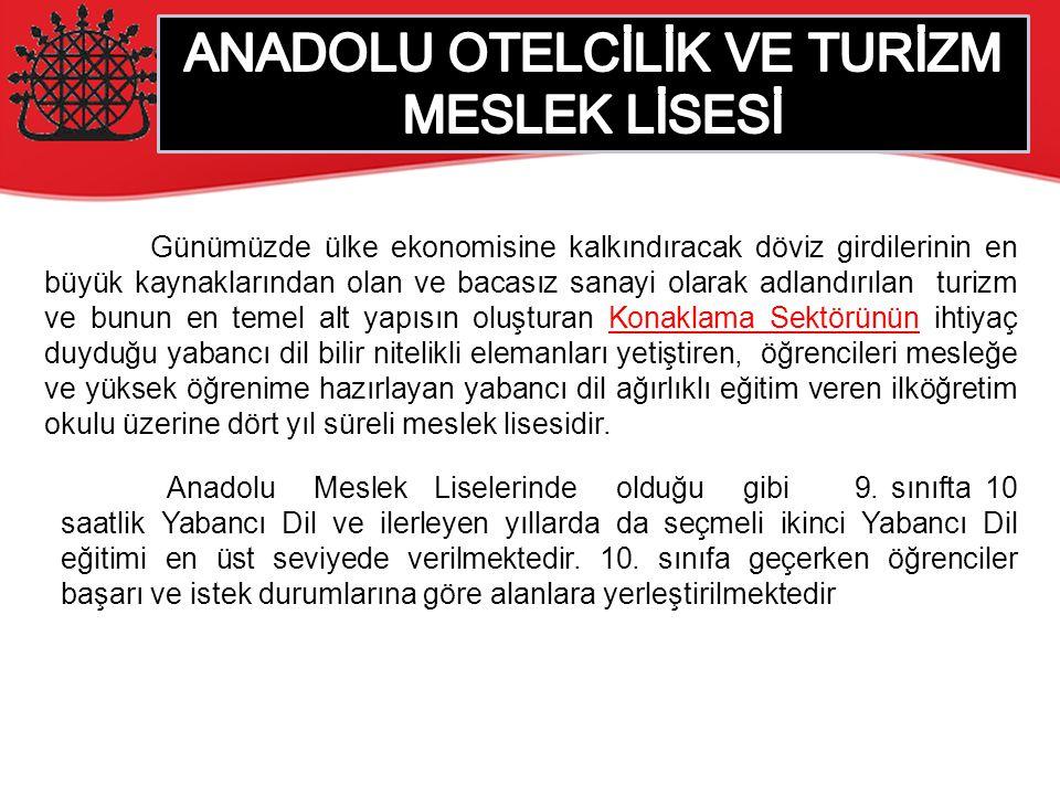 ANADOLU OTELCİLİK VE TURİZM MESLEK LİSESİ