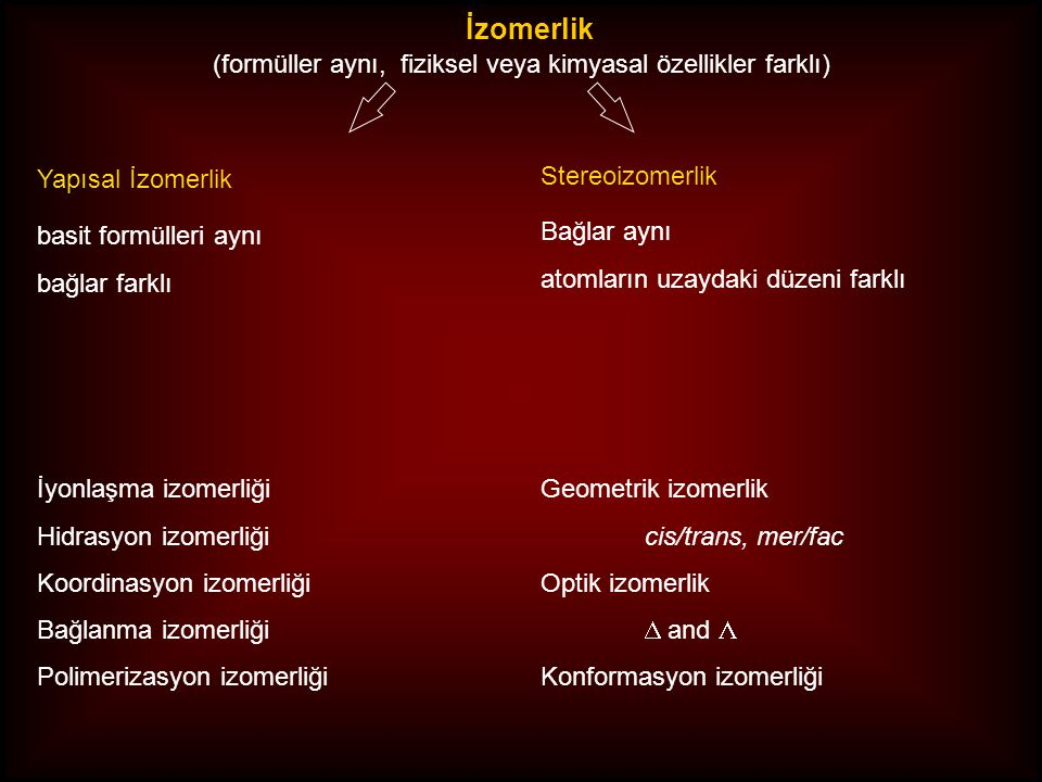 (formüller aynı, fiziksel veya kimyasal özellikler farklı)
