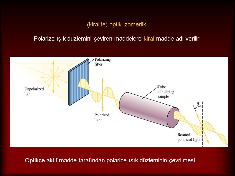 Optikçe aktif madde tarafından polarize ısık düzleminin çevrilmesi