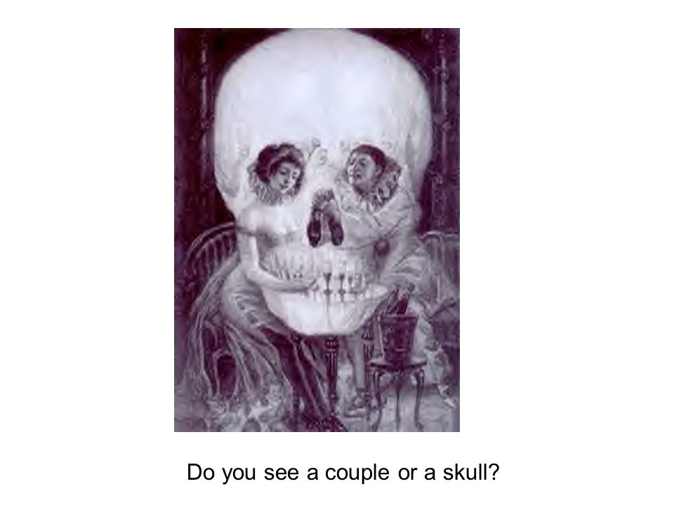 Do you see a couple or a skull