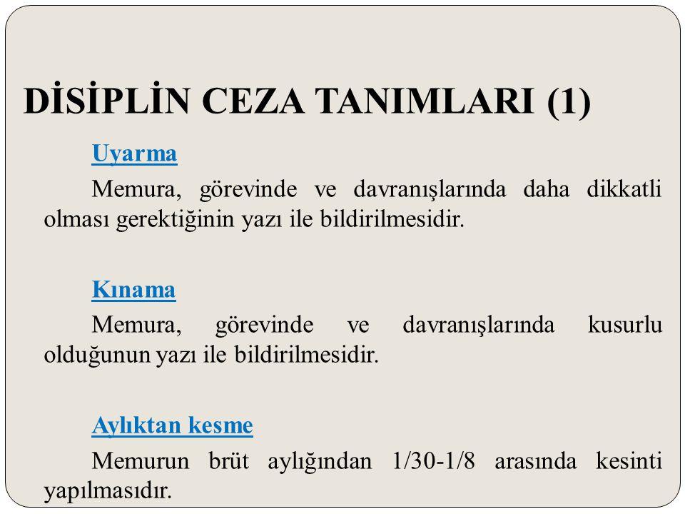 DİSİPLİN CEZA TANIMLARI (1)