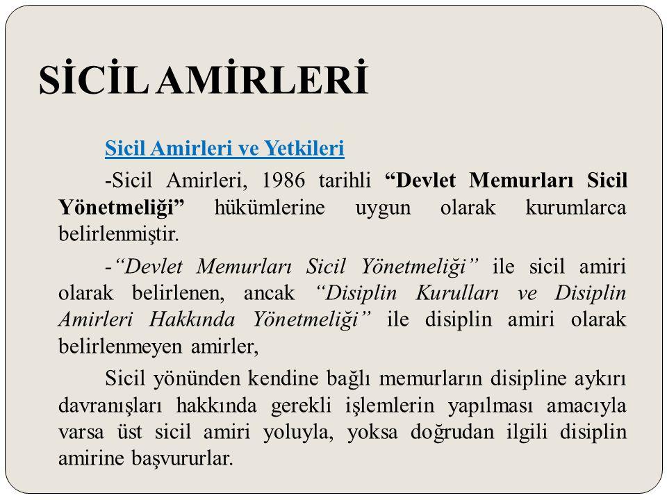 SİCİL AMİRLERİ