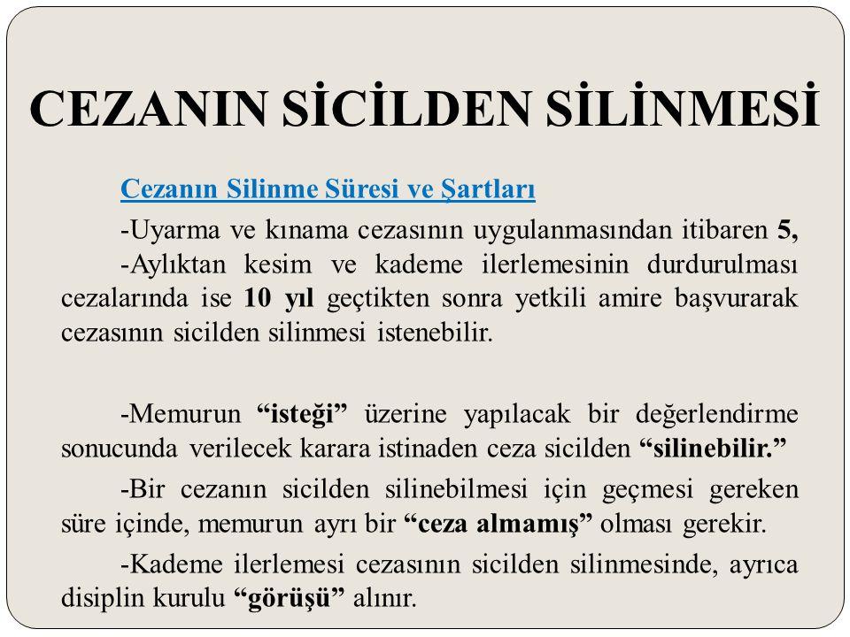 CEZANIN SİCİLDEN SİLİNMESİ
