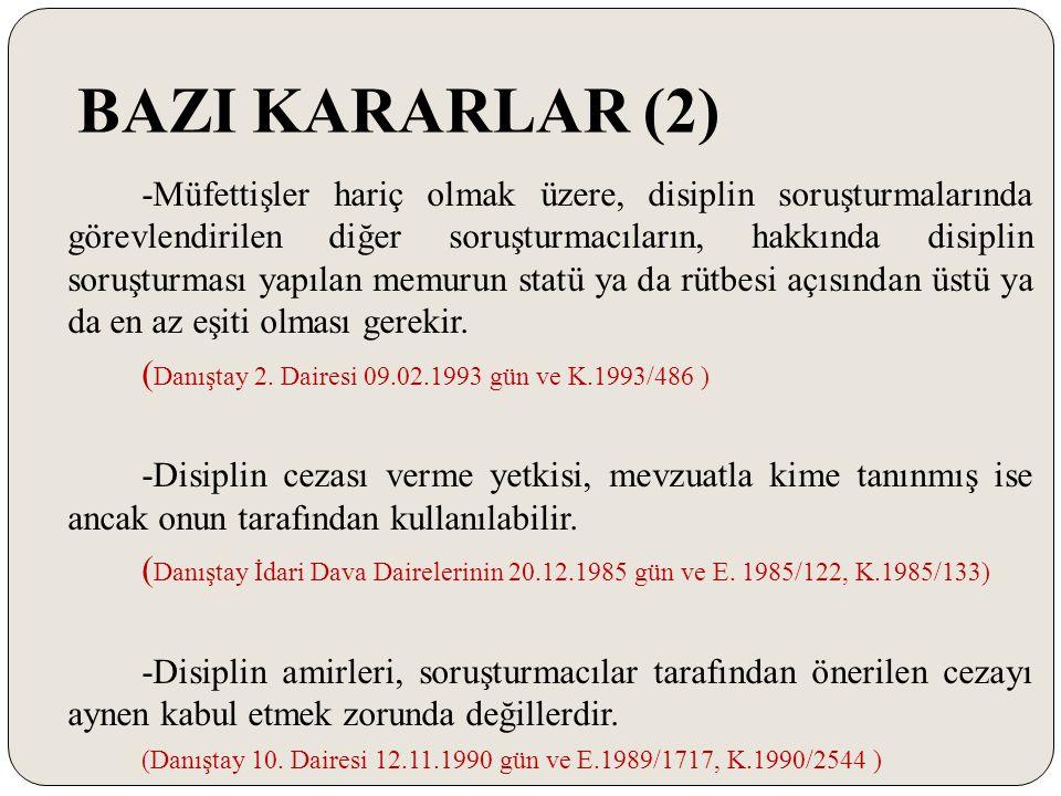 BAZI KARARLAR (2)
