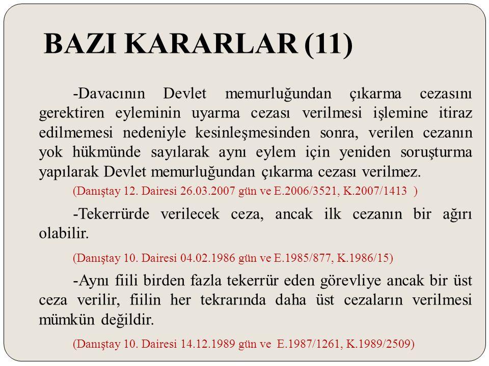 BAZI KARARLAR (11)