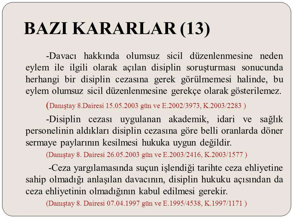 BAZI KARARLAR (13)