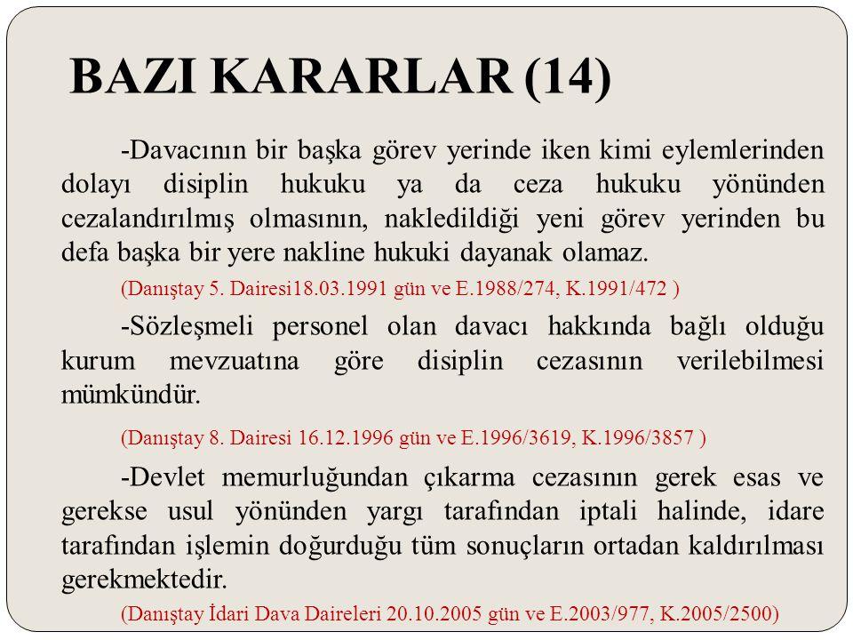 BAZI KARARLAR (14)