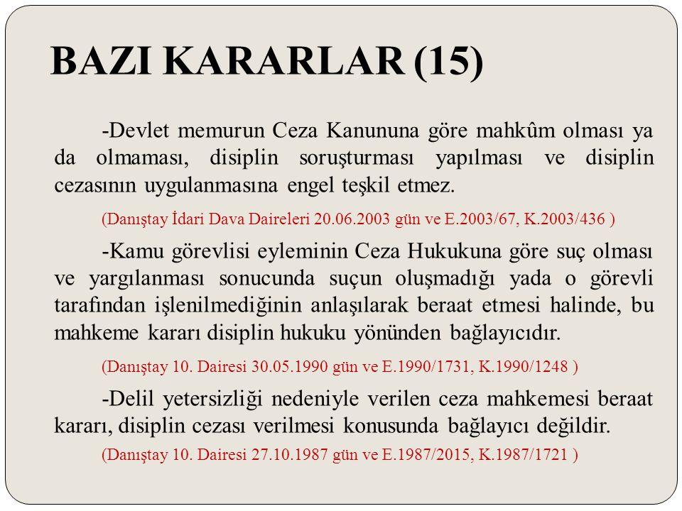 BAZI KARARLAR (15)