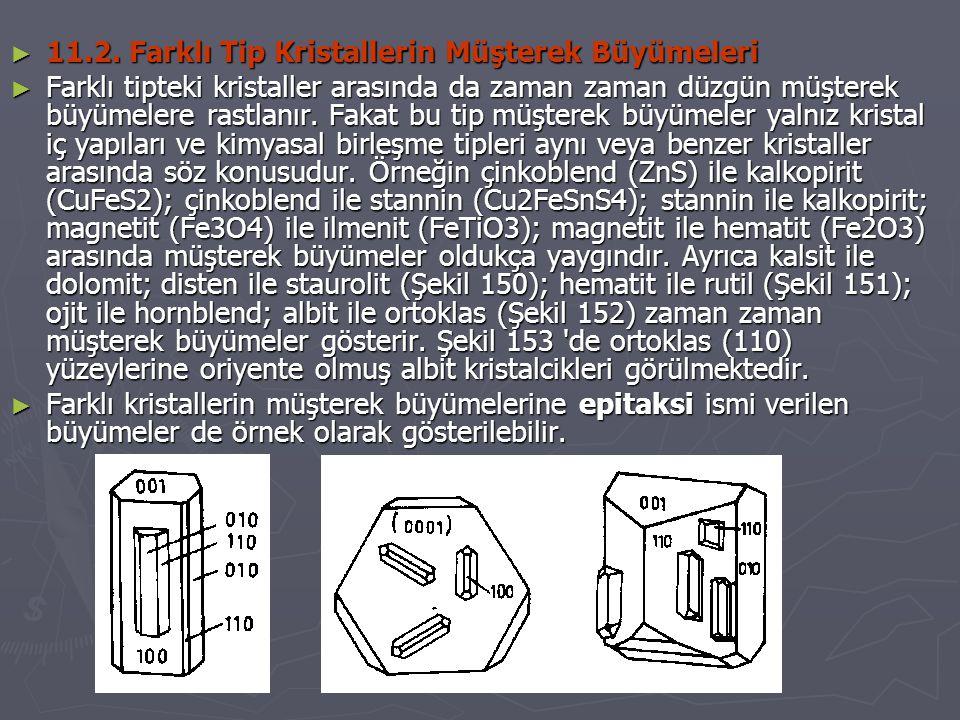 11.2. Farklı Tip Kristallerin Müşterek Büyümeleri