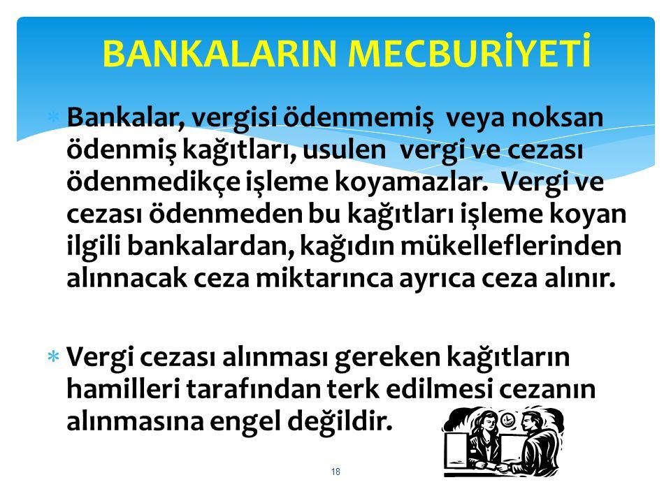BANKALARIN MECBURİYETİ