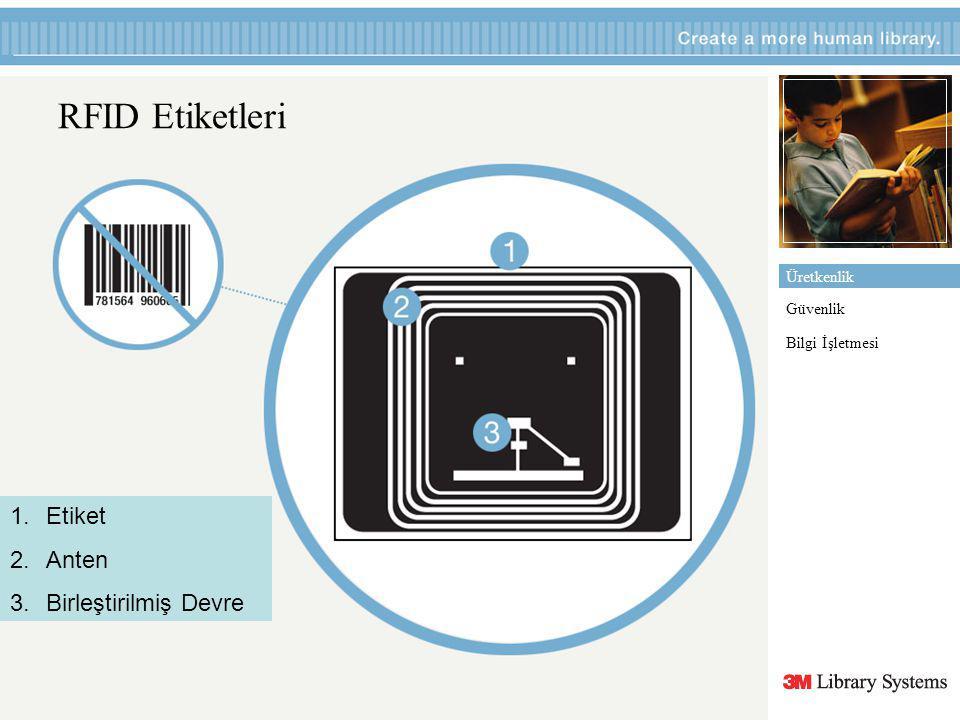 RFID Etiketleri Etiket Anten Birleştirilmiş Devre Üretkenlik Güvenlik