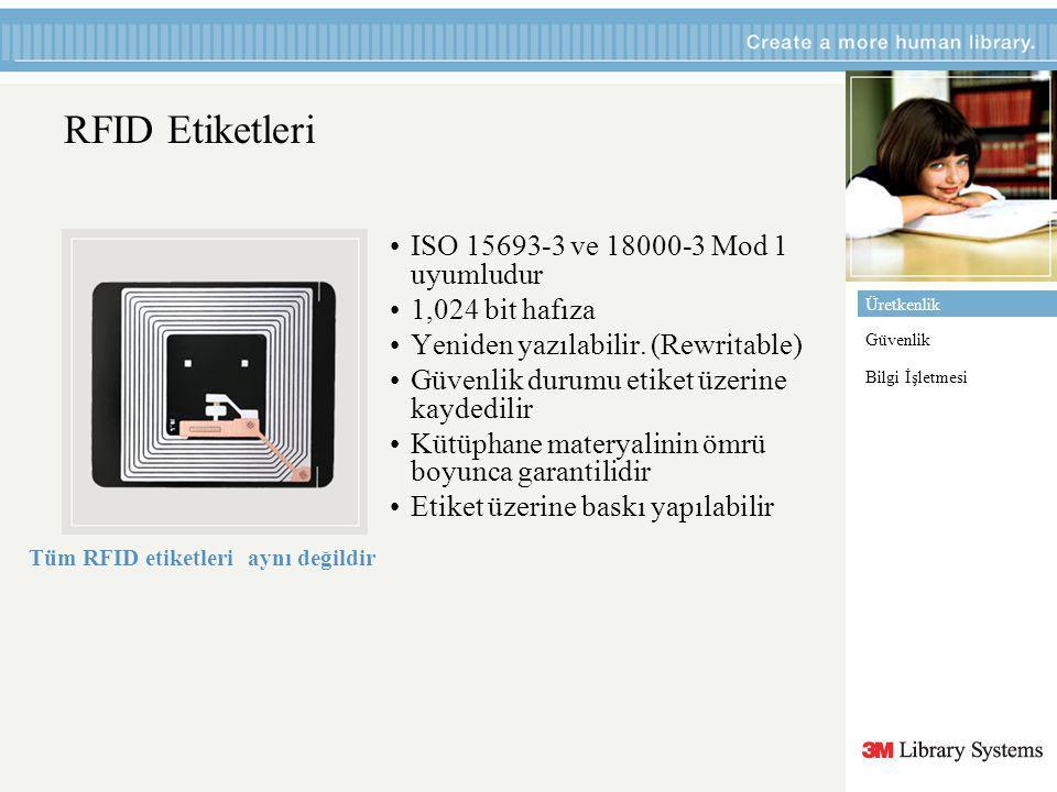 RFID Etiketleri ISO 15693-3 ve 18000-3 Mod 1 uyumludur