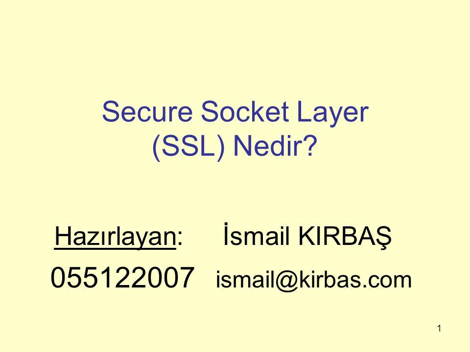 Secure Socket Layer (SSL) Nedir