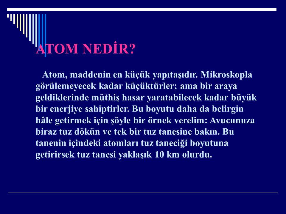 ATOM NEDİR