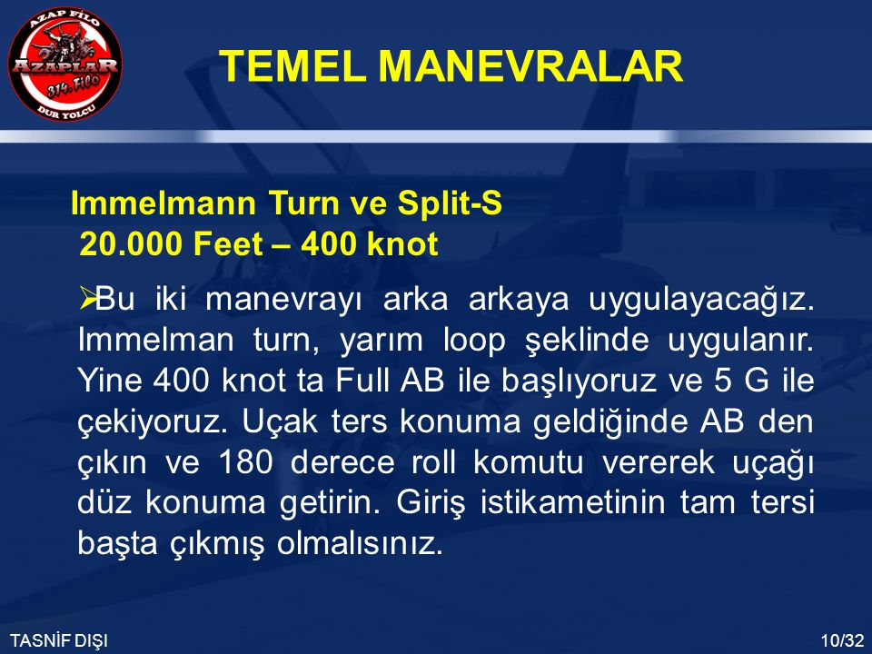 Immelmann Turn ve Split-S