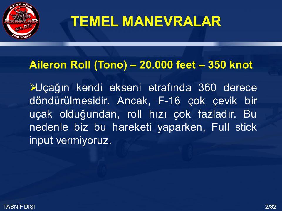 Aileron Roll (Tono) – 20.000 feet – 350 knot