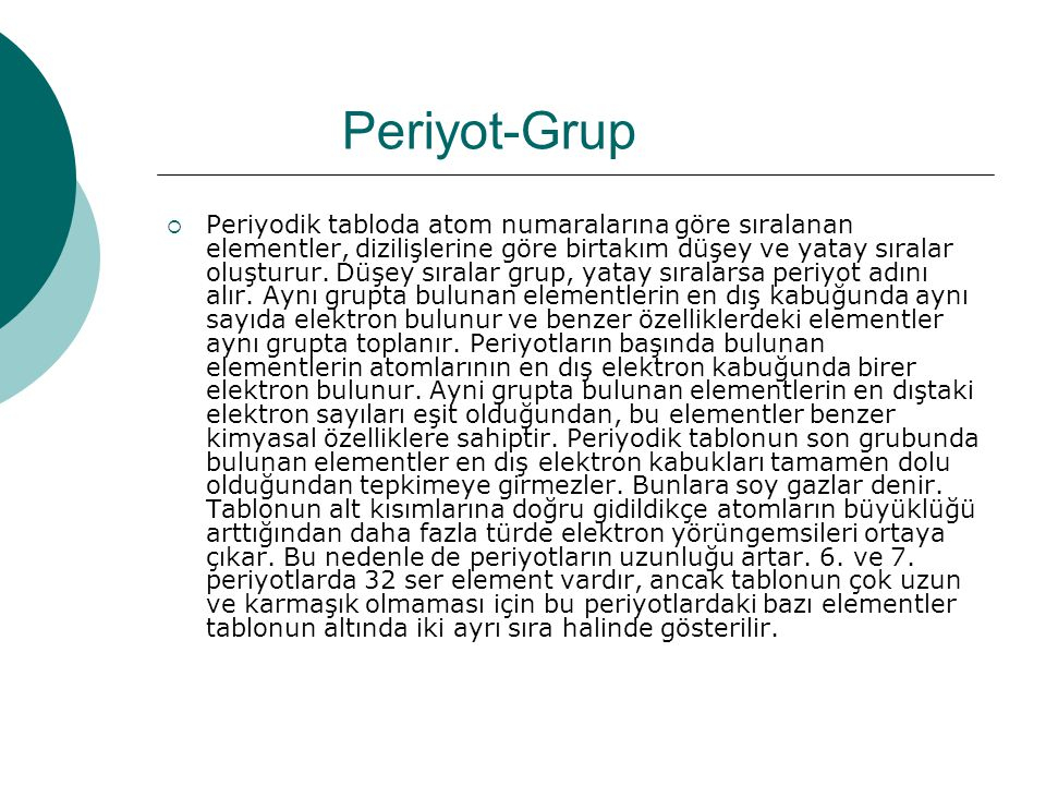 Periyot-Grup