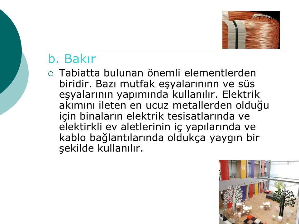 b. Bakır