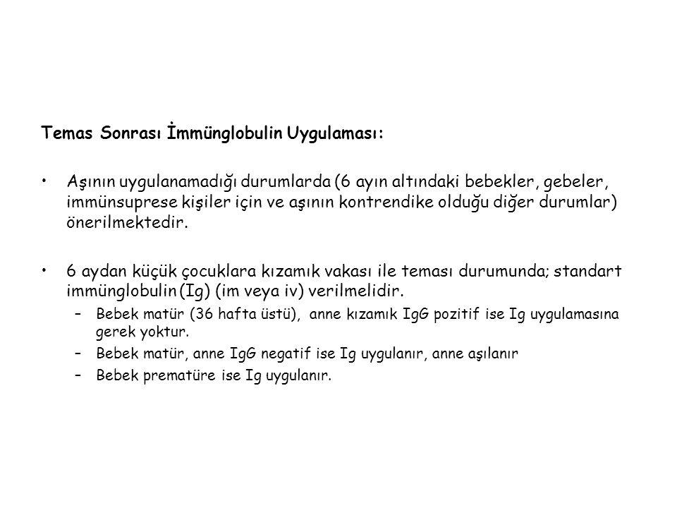 Temas Sonrası İmmünglobulin Uygulaması: